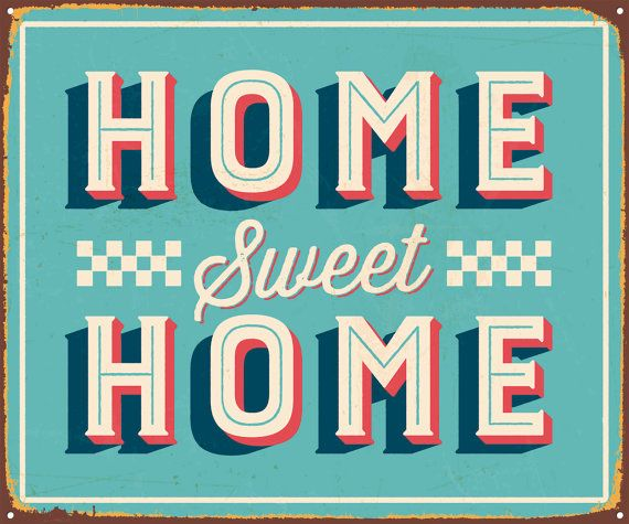Home sweet home poster wall art wall deco por Chachaprints en Etsy ...