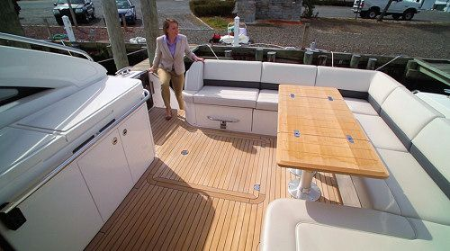 Best Princess Yachts V52 The Cockpit Features Teak And Stair 640 x 480