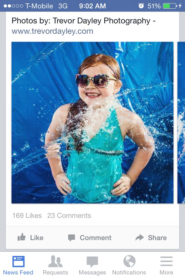 Water photo booth