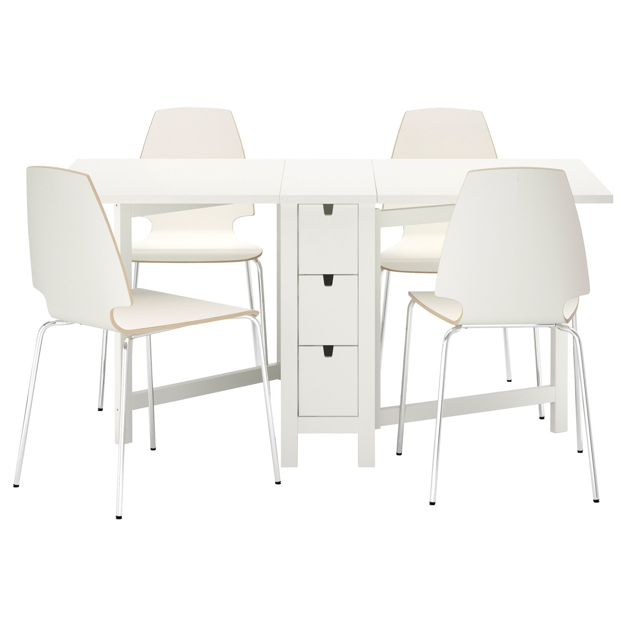 Collapsible dining table stack able chairs and storage for Small dining table with storage