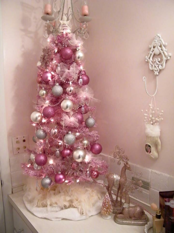 Pink Christmas Tree Pink Christmas Decorations Fun Christmas Decorations Pink Christmas