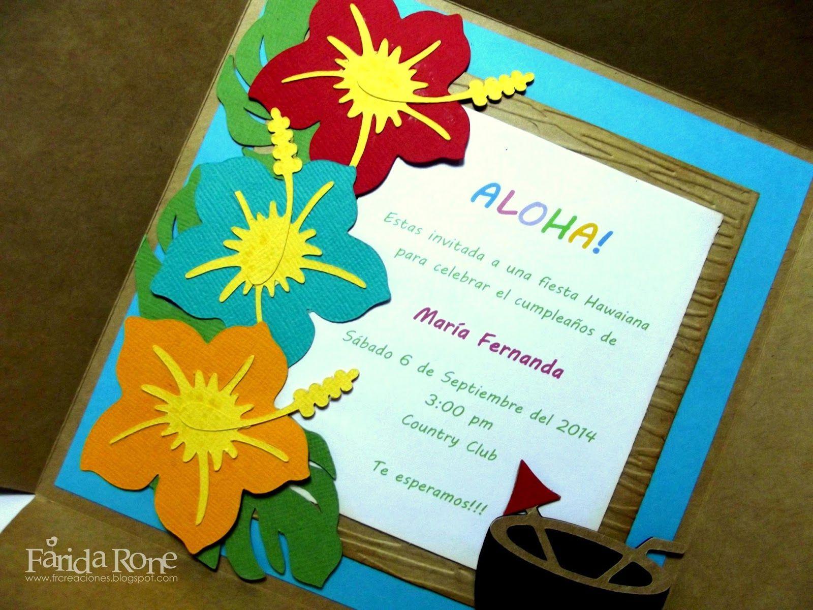 Invitación Fiesta Hawaiana Fiesta Hawaiana Invitaciones
