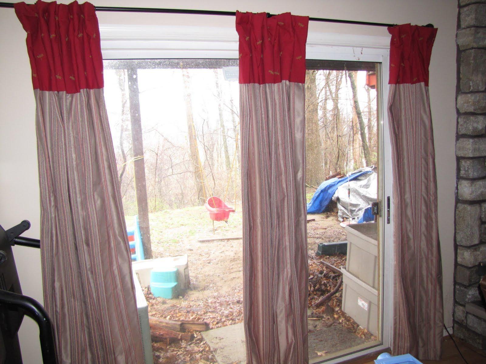 Double Curtain Rod For Sliding Glass Door Double Sliding Glass