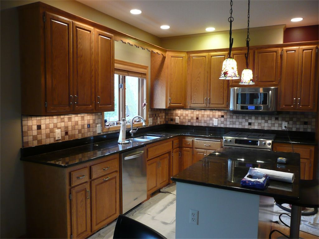 Kitchen Tiles Granite Kitchen Tile Backsplash With Colored Glass Accents Inserts
