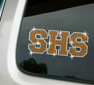 School rhinestone car decal in 2 colors rhinestone car decals custom rhinestone car decals on etsy 17 99