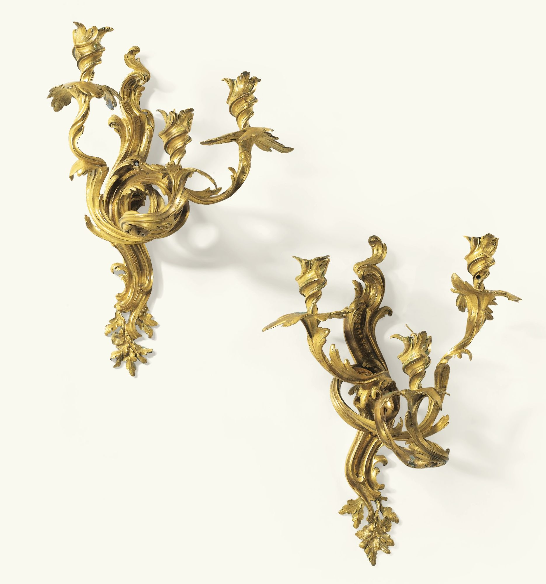 date unspecified Louis XV A PAIR OF GILTBRONZE WALL