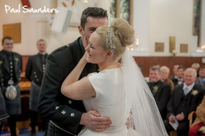 A shared moment of laughter after being pronounced as married.