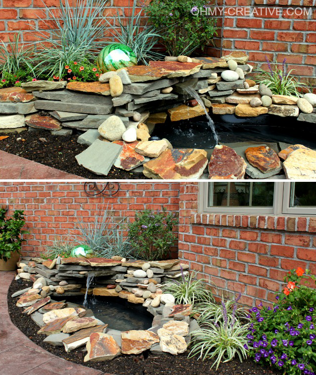 How To Landscape A Backyard On A Budget: How To Make Your Own Garden Pond With A Waterfall Easy