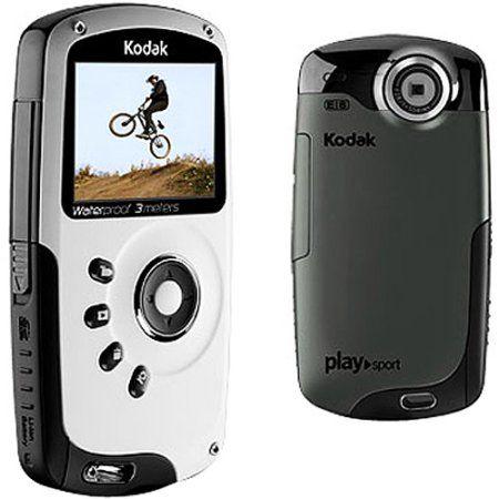 "Kodak PlaySport Black Waterproof High-Def Pocket Camcorder, 2.0"" LCD - Walmart.com"