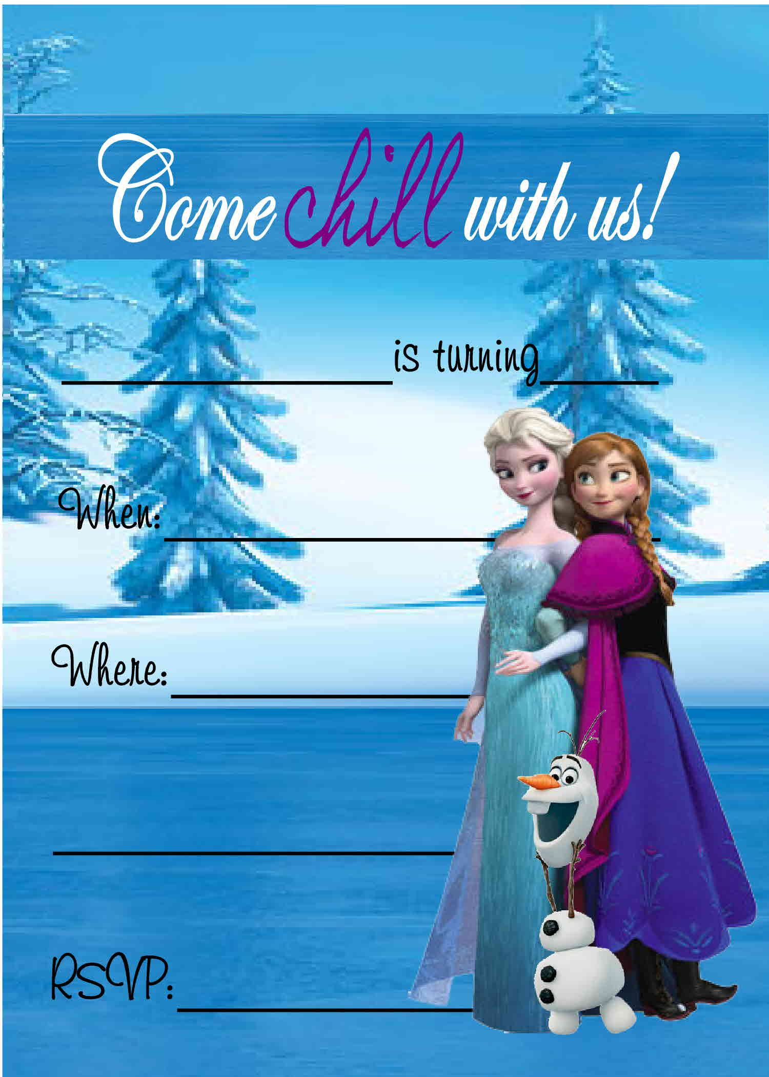 Free Frozen Birthday Party Invitations Frozen Birthday Party
