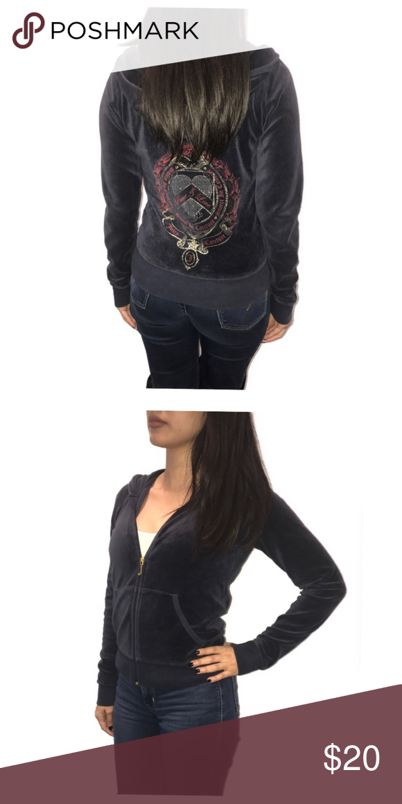 Juicy Couture  Peace and Love  Navy blue jacket An XL in kids but fits Xs S  on women. Material and artwork in great condition. Juicy Couture Jackets    Coats a5094ad16f