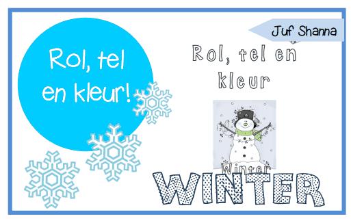 Juf Shanna: Thema winter - Rol, tel en kleur