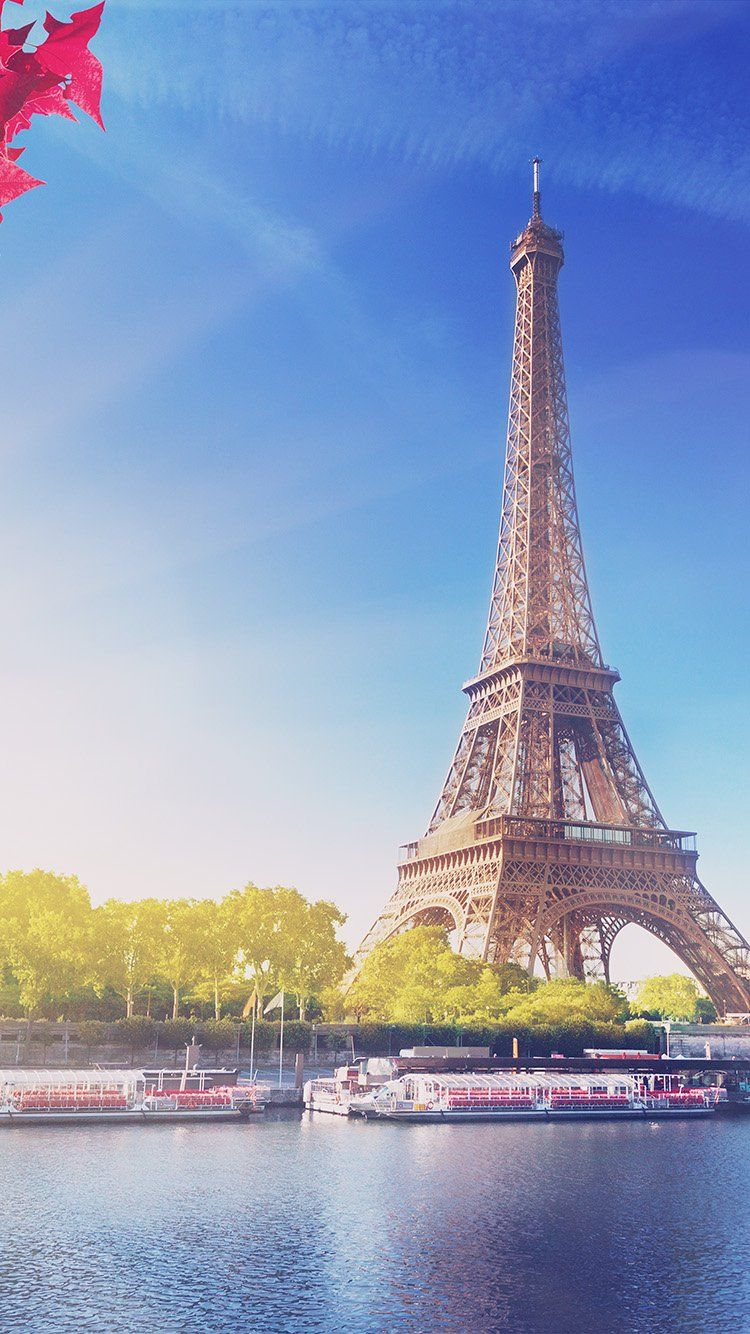 SKY BLUE EIFFEL TOWER NATURE PARIS CITY FLARE WALLPAPER HD