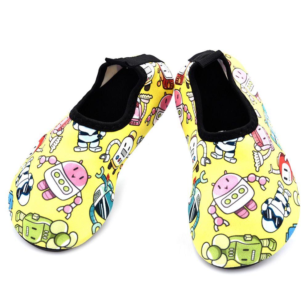b9a8b62777be Summer Children Water Shoes boys girls Cartoon Breathable Quick Dry Swimming  Fins Aqua Socks Non-