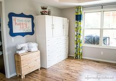 DIY Home Ideas | Craft Room Makeover  In part 3 of my craft studio makeover I am talking about fabric storage and my sewing table which conveniently folds up and rolls up against the wall when not in use.