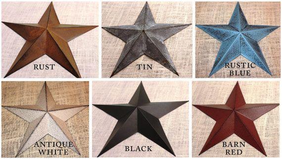 "RUSTIC BLACK BARN STAR 14/"" PRIMITIVE COUNTRY FARMHOUSE DECOR Set of 3"