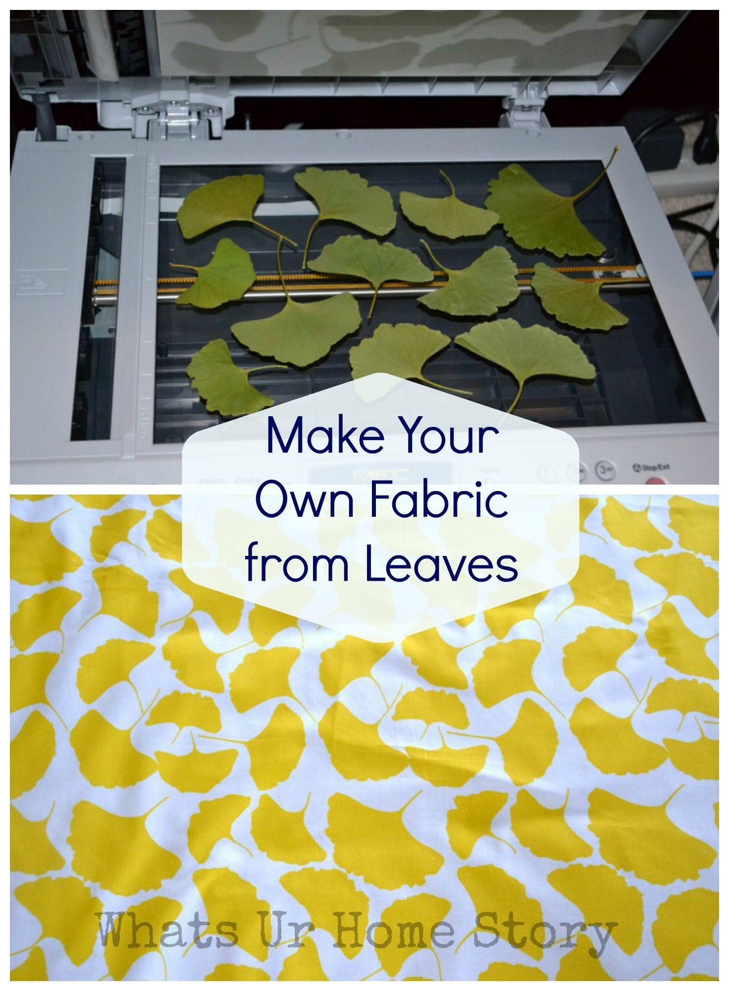 Hier auch eine schöne Idee, um die Herbstblätter zu nutzen für ein indivduelles Stoffdesign. Den Stoff zum Bedrucken gibt es bei www.Stoff-Schmie.de...