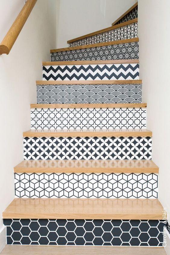 escalier original style graphique / Devis et plans 3D gratuits sur - Magazine Deco Maison Gratuit
