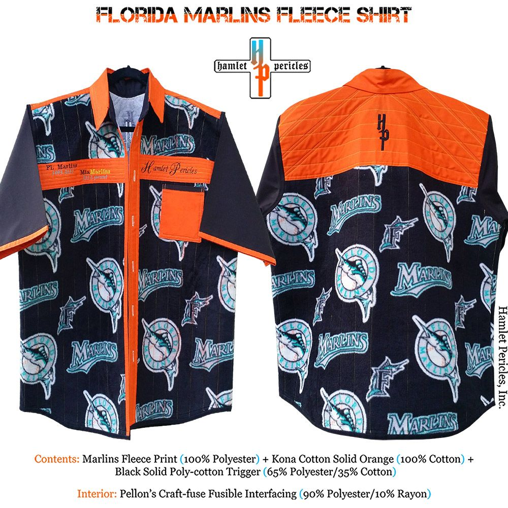 1667b912 Florida Marlins Fleece Shirt via Hamlet Pericles, Inc.    #HamletPericlesFashion #HamletPericles #