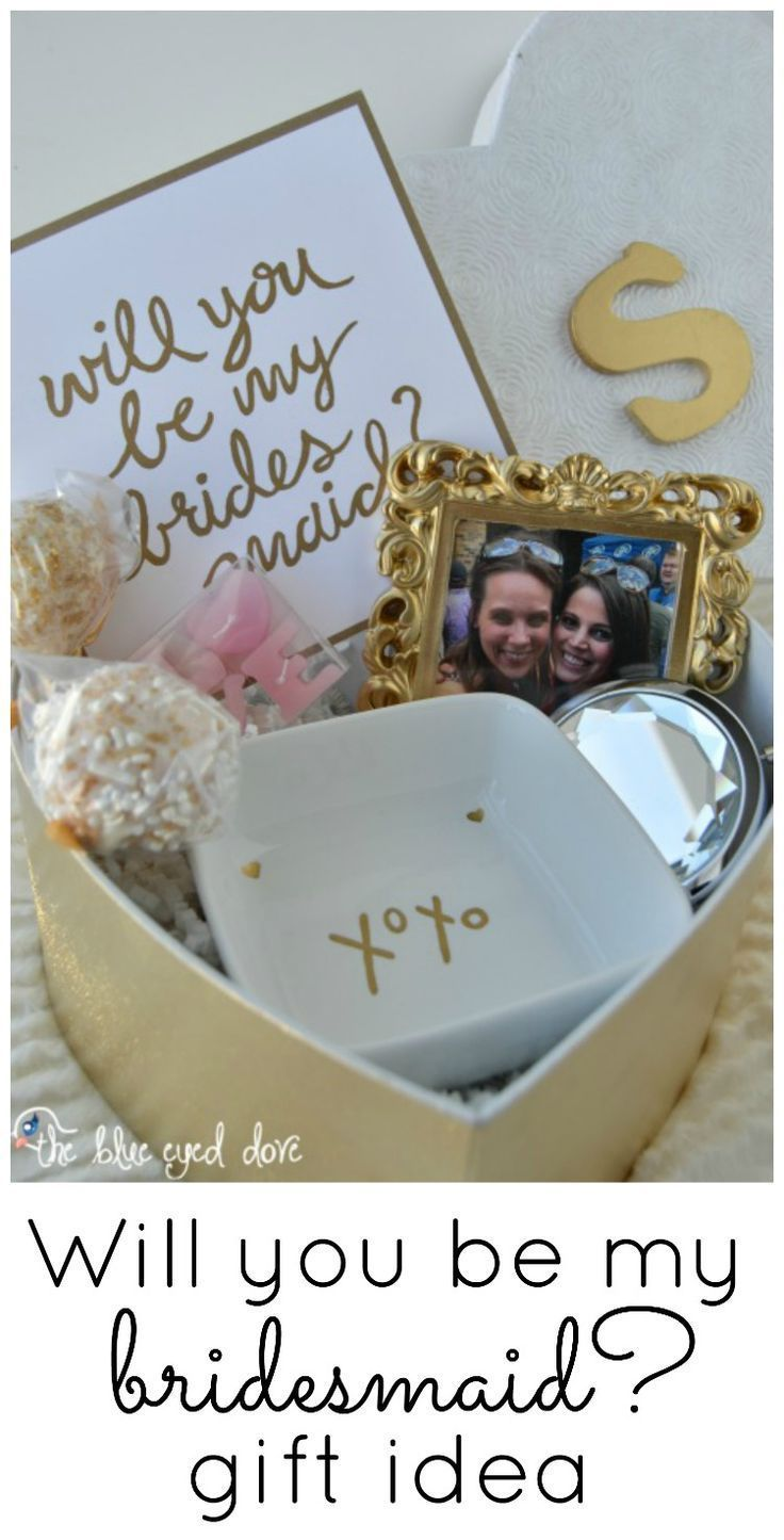 An easy and inexpensive way to ask your bridesmaids to be