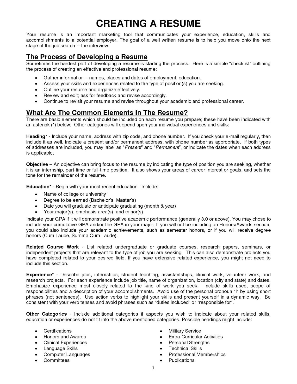 Resume Format Checker Resume Writing Examples Reference Page