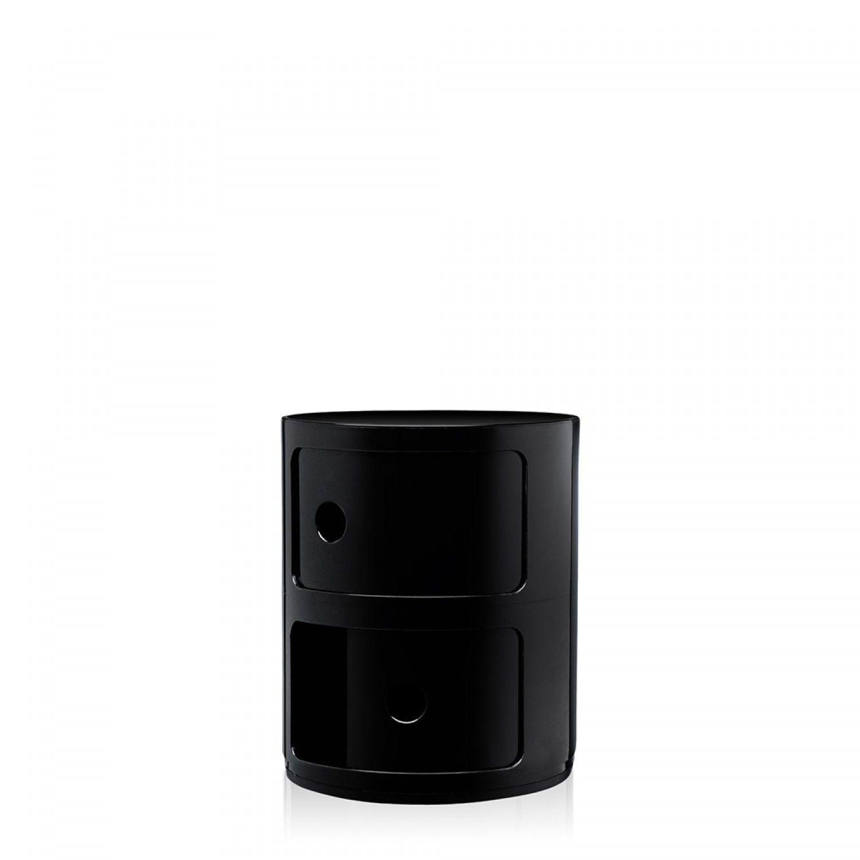 Table De Chevet Componibili componibili table de chevet noire double | chevet noir