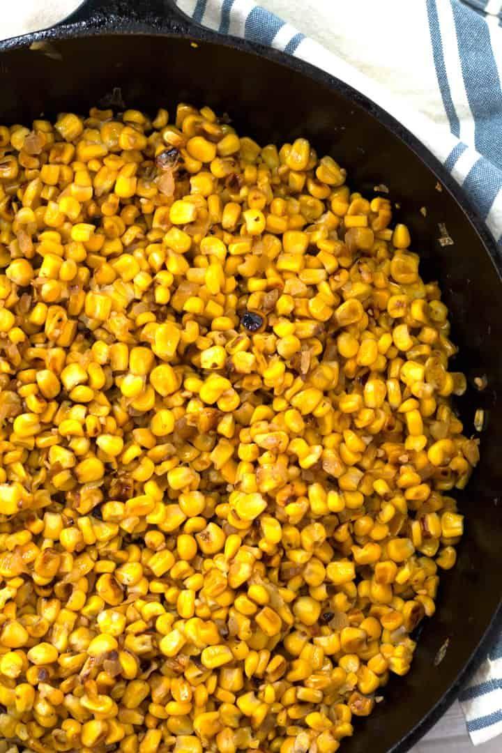 Skillet Roasted Corn | Borrowed Bites