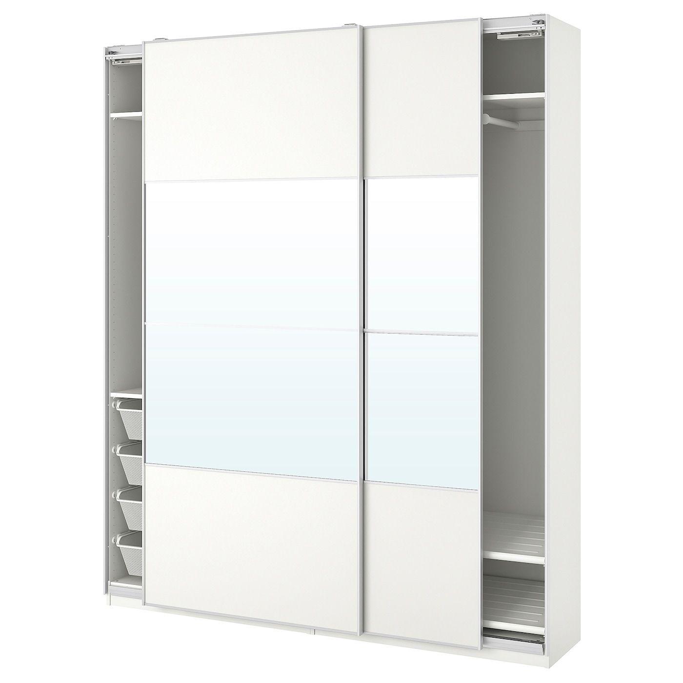 PAX Wardrobe white, Mehamn Auli 78 3/4x17 3/8x93 1/8