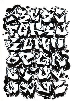手帳もメモ書きもアートにしたい 真似して書きたくなる グラフィティアートのアルファベット集 Naver まとめ Graffiti Lettering Alphabet Graffiti Alphabet Graffiti Font
