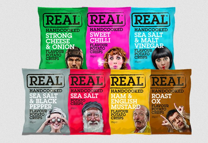 Real handcooked chips in funny packaging PD