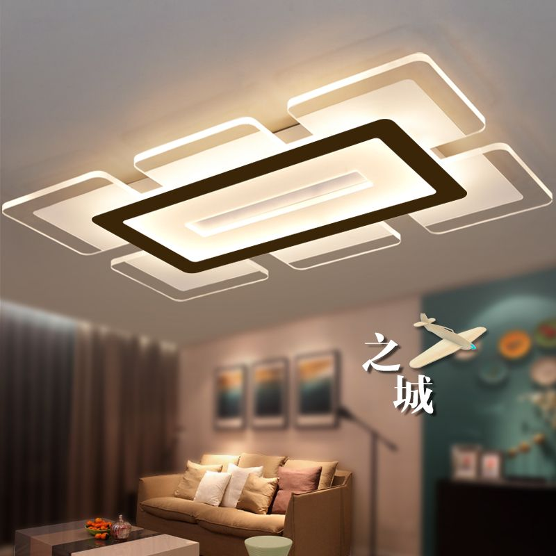 Eusolis 110 220v Sky City Ultra-thin Transparent Led Ceiling Light ...