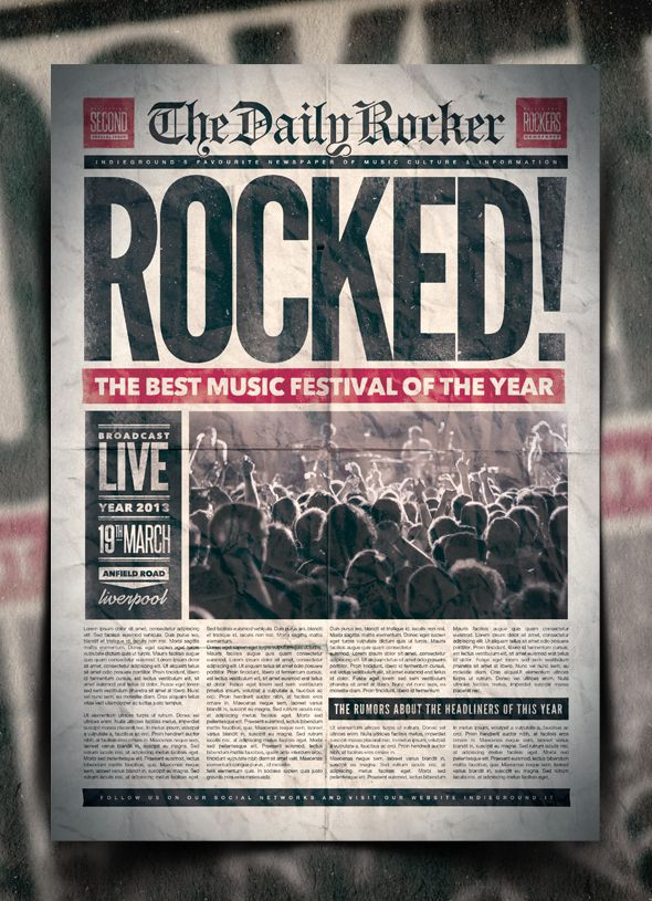 grunge newspaper poster template vol 2 by indieground on