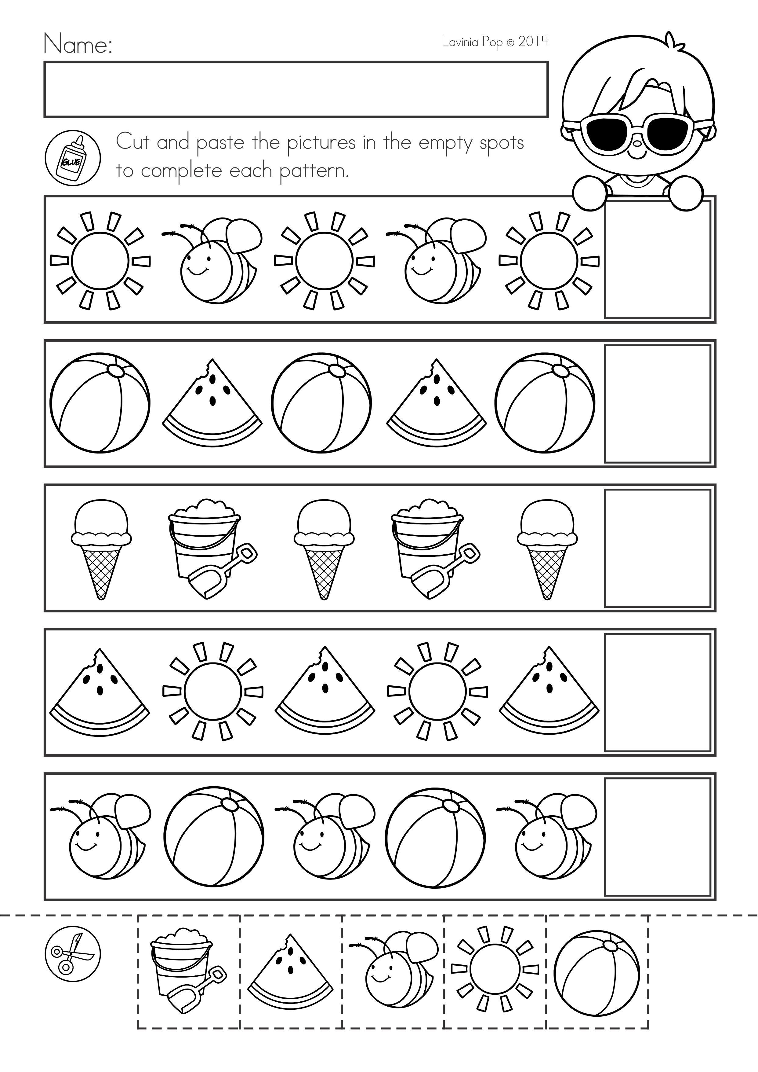 75cfdd4e7bbf349ba0007c734af1387b - Summer Worksheets For Kindergarten