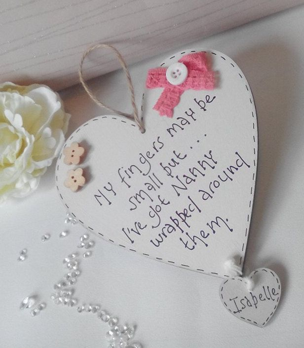 Nanny Gift Mother S Day Gift Heart Plaque Hanging Heart Gift