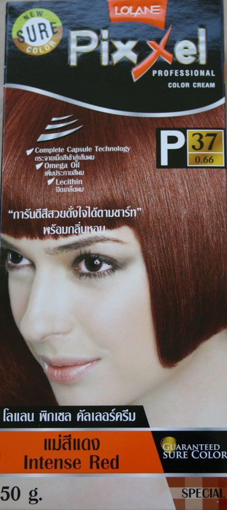 Lolane Pixxel Permanent Color Cream Hair Dye Gray Coverage Intense Red Color No P37 You Can Find Out More Details At The Lin Hair Cream Dyed Hair Hair Color