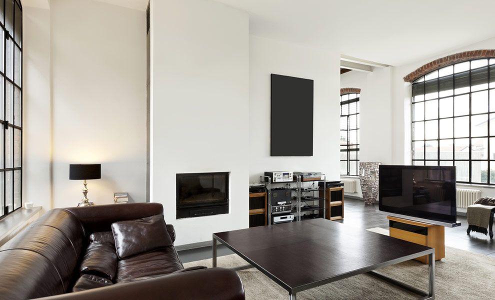 Moderne, witte woonkamer - muurverf kleuren | Houses | Pinterest | House