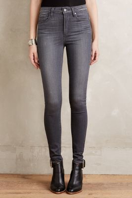 Paige Margot Skinny Jeans Luna Grey 24 High waist. My black Paige are as perfect as the day I bought them and I've worn them hundreds of times. Worth the big price tag. Want in grey!