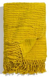 Yellow pleated throw from Nordstrom's.