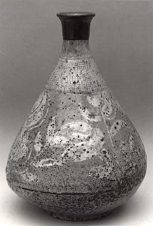 Bottle   Early 20th century   Korea   Stoneware under buncheong glaze