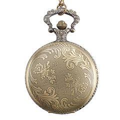 男女兼用の合金アナログクォーツ懐中時計(青銅)