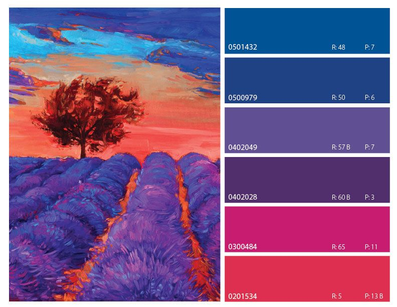 Blue Purple And Pink Color Combinations Palette