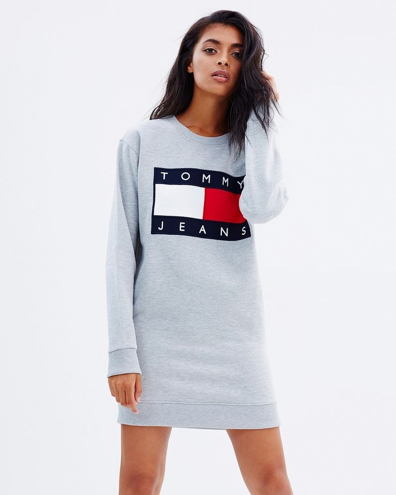 6d425e11c Tommy Hilfiger Jeans For UO '90s Logo Sweatshirt Mini Dress Iconic  #TommyHilfiger #Dress