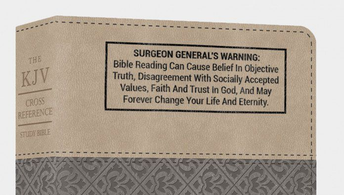 Surgeon General S Warning To Be Stamped On All Bibles Starting