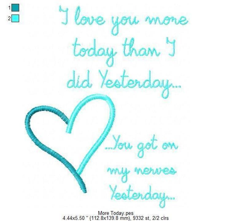 More Today (5x7 PES Only) | Sayings | Pinterest