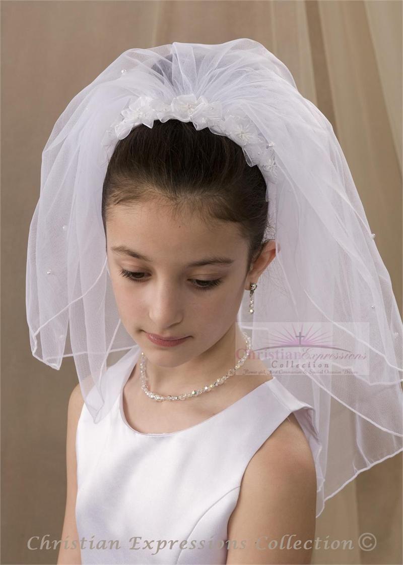 first communion headband veil-v880 | first communion headband