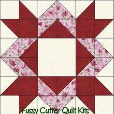Scrappy Fabric Diamond Star Easy Pre-Cut Patchwork Quilt Blocks ... : diamond star quilt block pattern - Adamdwight.com