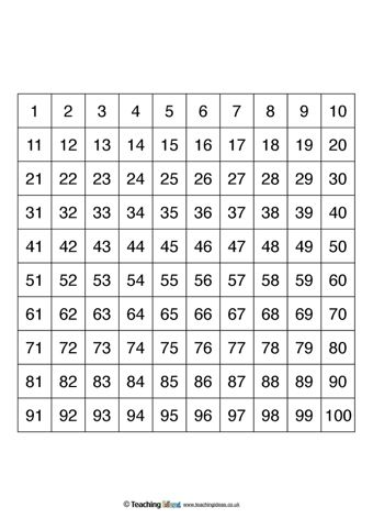 Number Square Templates  Math Activities Math And Number