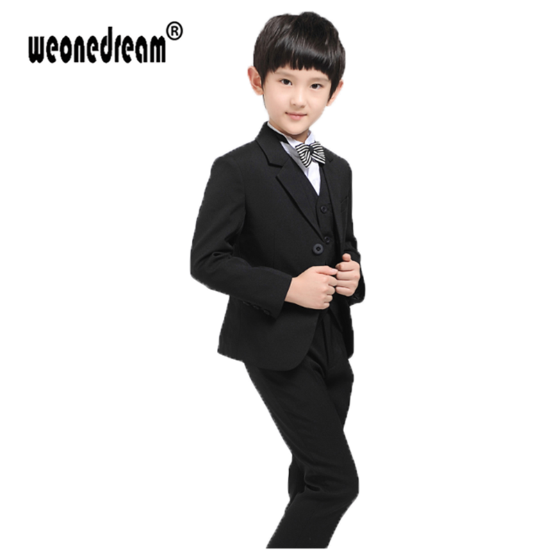 Click to Buy << WEONEDREAM 5pcs=Jacket+Vest+Shirt+Pant+Tie Fashion ...