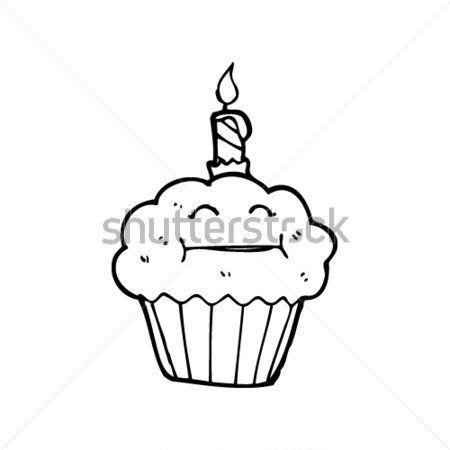Dibujos Animados DE Muffin DE Feliz Cumpleaños imágenes