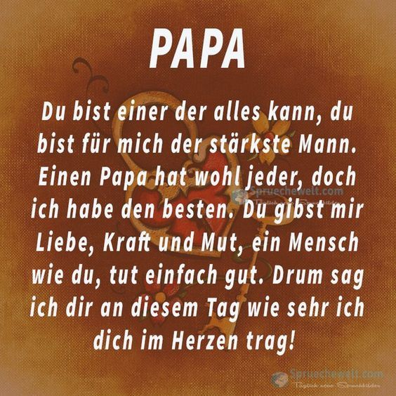 Papa Du Bist Einer Der Alles Kann Spruchewelt